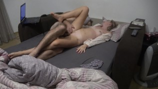 Quick fuck before bedtime and mouth fucked wife !